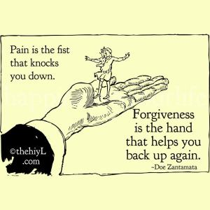 Forgiveness is the hand that helps you get back upon your feet once again. - Doe Zantamata