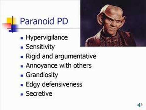 Characteristics of Paranoid Personality Disorder.