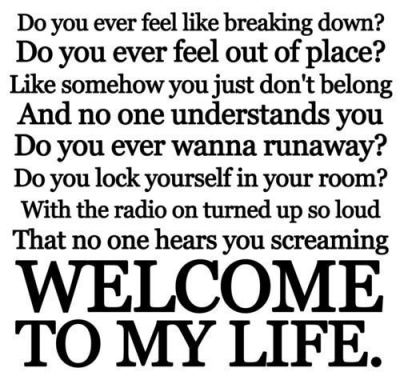 "Lyrics of ""Welcome to My Life"" - Simple Plan"