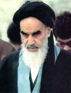 Ayatollah Ruhollah Khomeini  (Photo Credit: http://25mostevil.wordpress.com/)