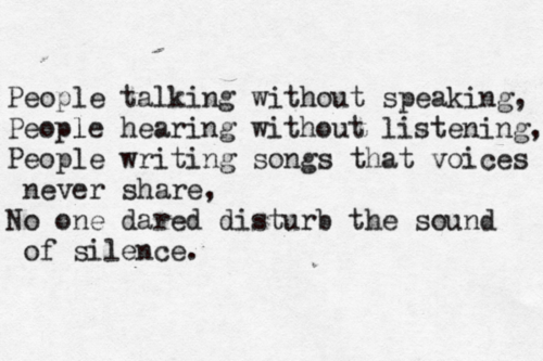 """People talking without speaking......."""