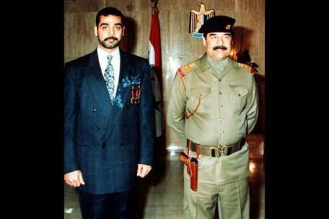 Uday & his father, Sddam Hussein - both notorious autocrats who imposed a reign of terror on the Iraqi people.