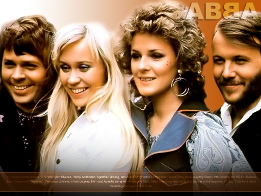 ABBA in the 1970s.