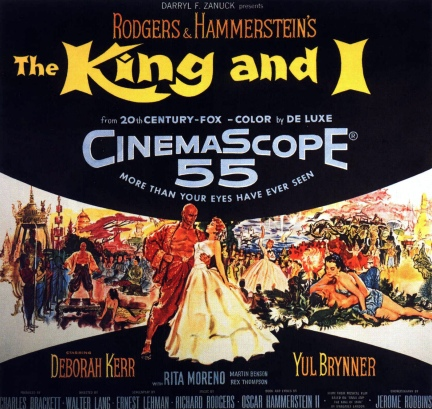 """""""The King and I"""" - starring Yul Brynner and Deborah Kerr."""