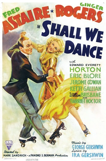 """""""Shall We Dance"""" starring Fred Astaire and Ginger Rogers."""