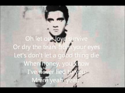 """Elvis Presley - """"Suspicion."""""""