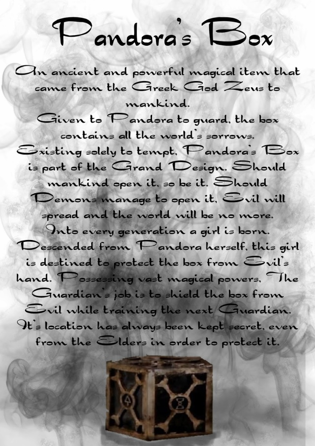The Story of Pandora's Box.