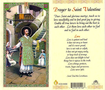 Prayer to Saint Valentine