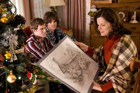 """Christmas Cottage"" - Scene from the movie - Thomas presents the sketch of their cottage to his mother."