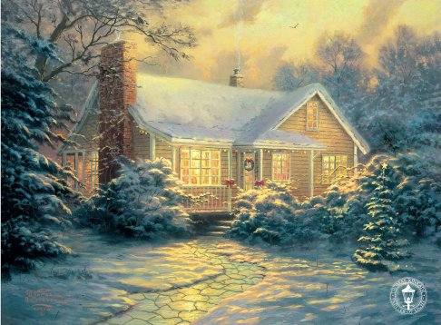 Thomas Kinkade - The Christmas Cottage
