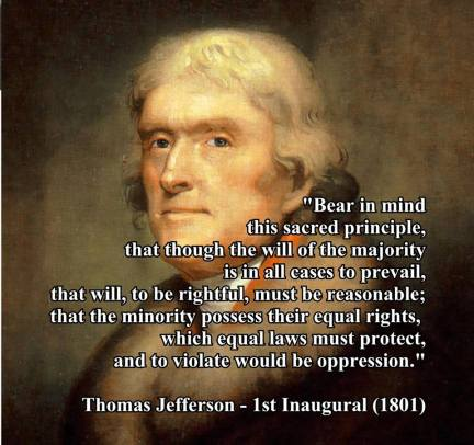 Thomas Jefferson Quote on Minority Rights.
