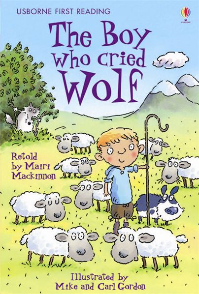 """""The Boy who cried Wolf"""" from Aesop's Fables"