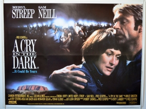 "Original Cinema Quad Poster - Movie Film Poster - ""A Cry in the Dark"""
