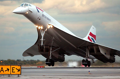 The British Airways Concorde Jet Plane