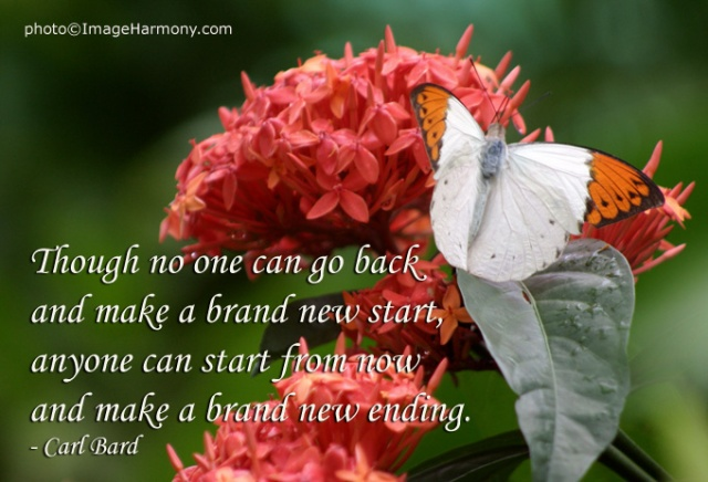 One cannot make a brand-new beginning without making a brand-new ending first.