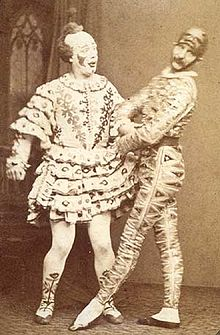 The Payne Brothers as Clown and Harlequin, c. 1875. (Photo Credit: Wikipedia)