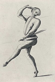 John Rich as Harlequin with batte, c. 1720. (Photo Credit: Wikipedia)
