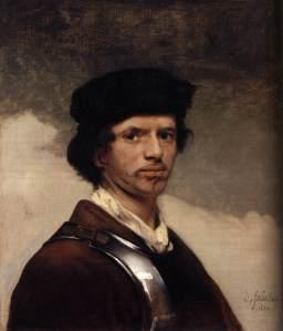 Johannes Vermeer - a self-portrait