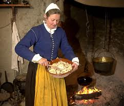 A maid in the 17th century.