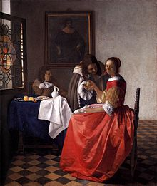 The Girl with the Wine Glass (c. 1659) (Photo credit: Wikipedia)