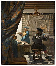 Vermeer's Art of Painting or The Allegory of Painting (c. 1666-68) (Photo credit: Wikipedia)