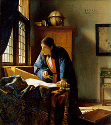 The Geographer by Johannes Vermeer. (Photo credit : Wikipedia)