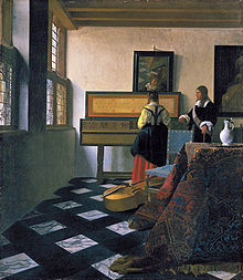 The Music Lesson or A Lady at the Virginals with a Gentleman, c. 1662–65; Vermeer (Photo credit: Wikipedia)