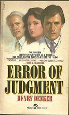 """Error of Judgment"" by Henry Denker"