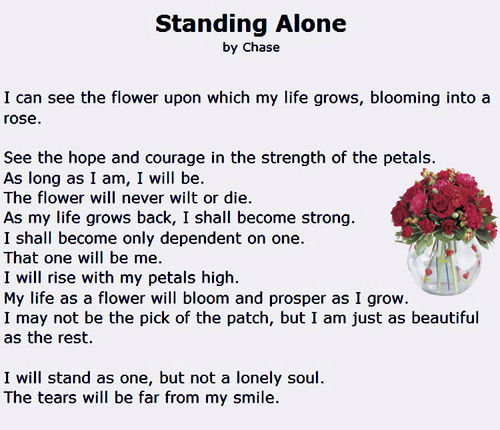 """Standing Alone"""