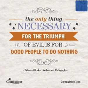 Edmund Burke Quote on Goodness Triumphs.