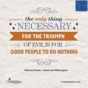 Edmund Burke Quote on Goodness Triumphs.