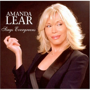 """Amanda Lear Sings Evergreens"" (Germany) album cover."