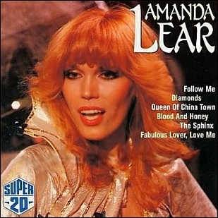 "Amanda Lear - ""Super 20"" album cover."