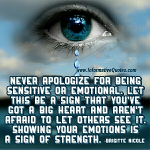 Quote on being sensitive to other people's feelings.