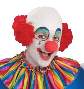 The laughing, bald clown.