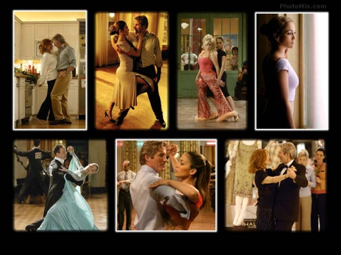 "Scenes from the movie, ""Shall We Dance?"" starring Richard Gere and Jennifer Lopez."