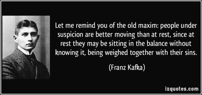 Quote on Suspicion