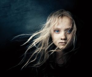 "The character called Cosette from ""Les Miserables"" - as a child."
