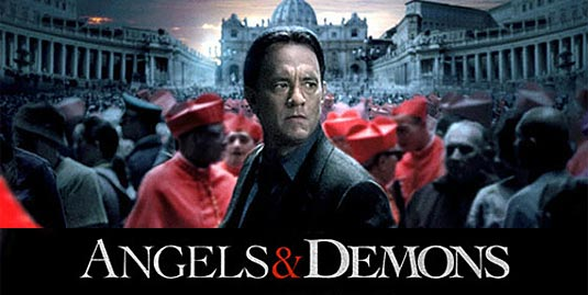 "Poster of the movie, ""Angels and Demons."""