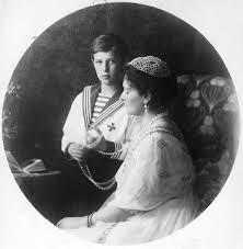 Tsarina Alexandra and her son, Tsarevich Alexei.