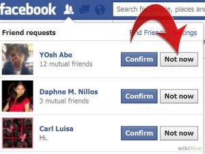 Handling awkward friend requests on Facebook