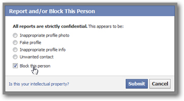 Cancelling a friend request by blocking the user