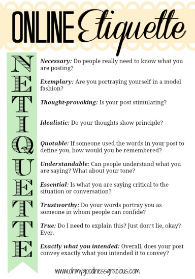 The Rules of Online Etiquette